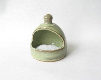 Salt Pig made in Stoneware, Ceramic Salt Pig, Pottery Salt Pig, Salt Keeper, Salt Cellar