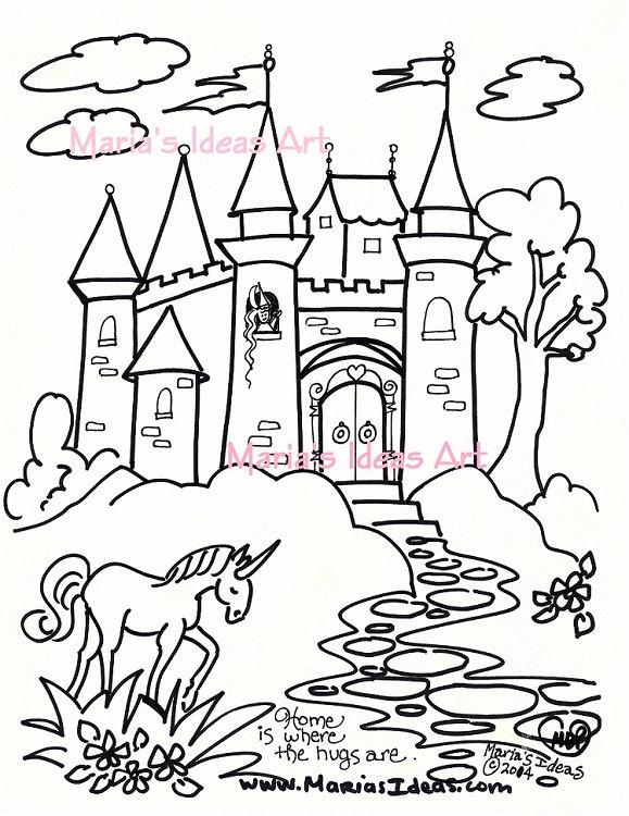 Malvorlagen Burg Kunst Fur Kinder Prinzessin Schloss