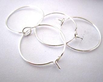 Set of 4 holders hoops 21MM silver