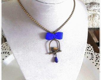 bronze Blue Bird necklace