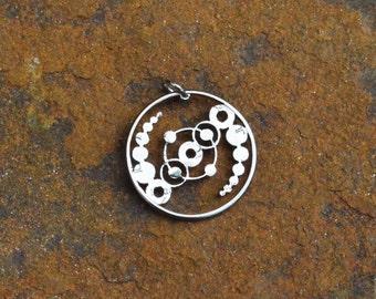 Mysterious Crop circle pattern hand cut coin,  circles