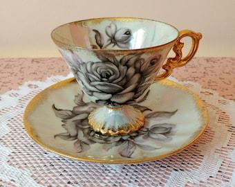 Vintage Elbro tea cup and saucer set