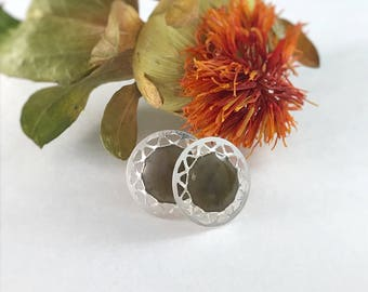 Custom Memorial Jewelry, Cremation Jewelry, Art Deco Earrings, Sterling Silver Pet Ashes Jewelry
