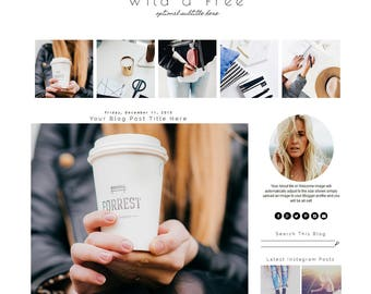 Blogger Template - Fashion Blog Template - Blogger Template Responsive - Blogger Template Minimal