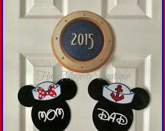 1 Personalized Nautical Cruise Magnets for Stateroom Door
