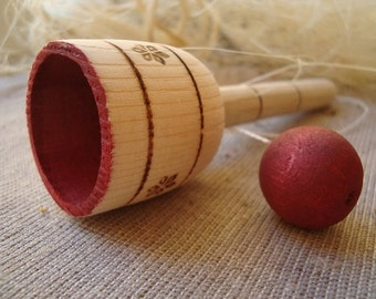 CUP in BALL. Wooden Toys. Eco-friendly toys for kids