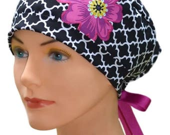 Scrub Hats // Scrub Caps // Scrub Hats for Women // The Hat Cottage // The Mini // Ribbon Ties // Lattice