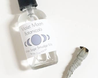 White Sage Smudge Mist // liquid smudge spray // smudge room and body mist // meditation and ritual tools // aura cleansing mist