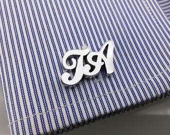 Groom Wedding Cufflinks - Initial Cufflink Personalized Cufflinks - Letters Cufflinks, Men Cufflinks, Initials Cufflinks, Father's day gift
