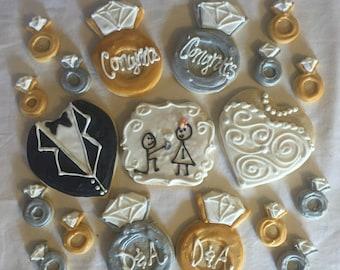 Wedding/engagement Cookies gift box