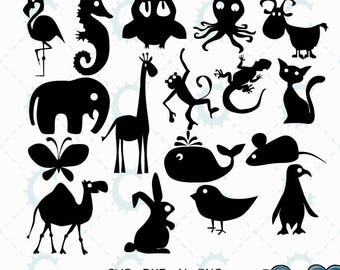 Cute Critters Cut File Collection - svg/dxf/ai/png files suitable for cricut, silhouette, laser cutting and cnc routing
