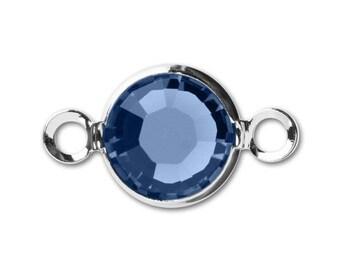 Swarovski crystal 6mm Rhodium-Plated Channel Link, charm connector, crystal