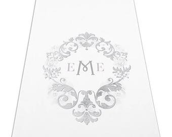 Monogram Simplicity Personalized Aisle Runner Wedding Ceremony Decoration