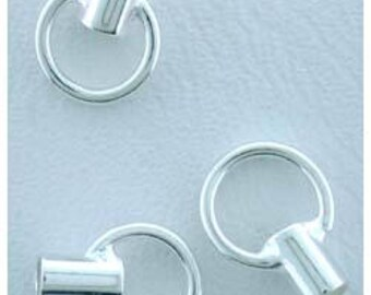 Crimp Tube 3.5mm with Ring 1.5mm ID Sterling Silver (Pkg of 10)(585S-72)