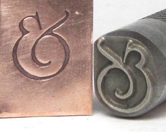 Chubby Ampersand stamp, big fat 8.5mm x 11mm size in .5 inch shank endless possiblilties