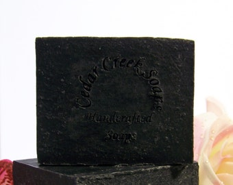 Charcoal Lavender Soap ~ Essential Oil Organic, Vegan, All Natural Soap