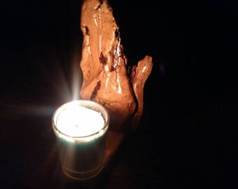 Rustic Wooden Candle Stand
