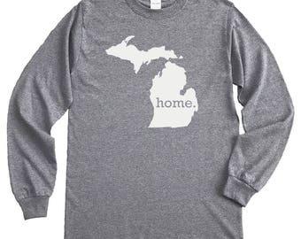 Homeland Tees Michigan Home Long Sleeve Shirt