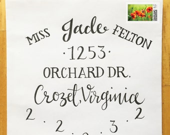 Wedding Calligraphy - Custom Hand Drawn Lettering and Styles: Poppy
