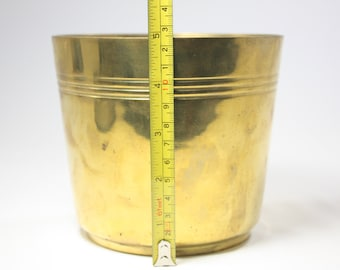 Vintage Brass Container Cup Pot Made in Thailand
