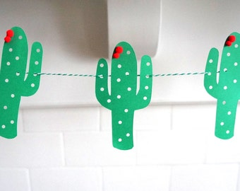 Cactus Banner / Fiesta Decorations / Desert Theme / Birthday Banner