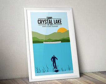 Visit Crystal Lake - Original Art Print - Poster - 13x19