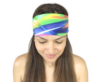 Yoga Headband, Fitness Headband, Workout Headband, Stretch Headband, Running Headband, No Slip Headband, Headband, Wide Headband S129