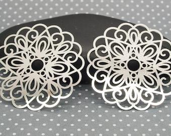 set of 4 beautiful prints ESTA29 filigree stainless steel