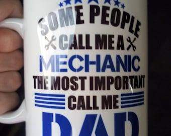 Mechanic Dad Mug - stoneware mug - Gift for Dad - Mechanic Gift - Coffee Mug - Father's Day - Car Enthusiast - Gift for Coworker