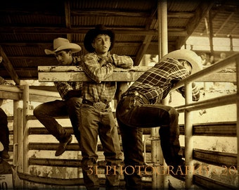 Western Photograph Rodeo Cowboys Fine Art Prints Rustic Home Decor Old West Lifestyle