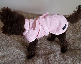 Doggy bath robe & free drying mitt