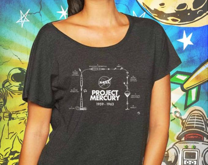 Project Mercury / Vintage Black Women's Dolman Shirt