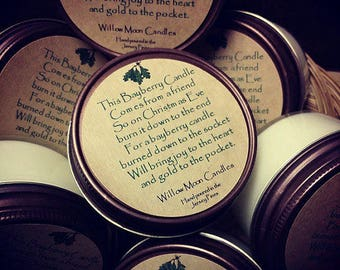 The bayberry legend, bayberry candle, Christmas legend candle, bayberry poem, Christmas gift, mason jar