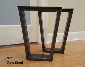 3x1 Trapezoid Metal Bench Legs - Bench or Coffee Table Height