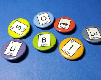 Periodic Table of Elements Pinback Button (or Magnet)