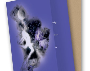 Midsummer's Night Flight 5 x 7 Greeting Card with Envelope