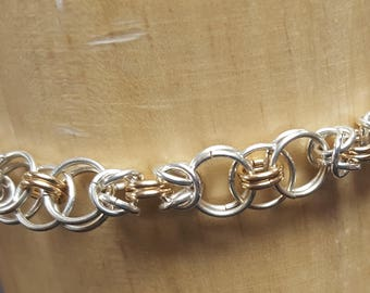 Celtic weave chainmale bracelet