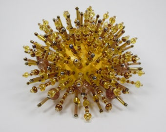 gold and brown seaurchin