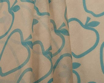 Apple Print Silk Fabric Fabric By The Meter Apparel Fabric Home Decor Fabric Quilting Fabric Upholstery Fabric Craft Supplies