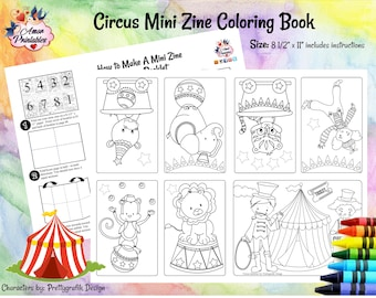 Circus coloring book | Etsy