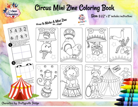 Circus Mini Coloring Coloring Pages Circus Activity Mini