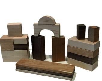 Mixed Hardwood Block Set