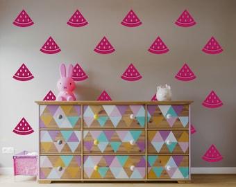 Watermelon Wall Decal / Home decor / Party Decor / Nursery Wall Decal
