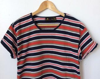 Women's Short-Sleeve Striped T-Shirt Size M