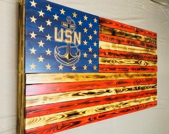 U.S. Navy Large American Concealment Flag Hidden Gun Storage USN