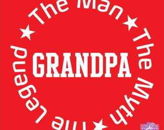 Grandpa shirt, Pappy shirt, Father's Day gift, The Man, The Myth, The Legend - Grandpa T shirt, pappy, granddad, pap pap