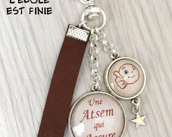 cadeau Atsem porte-clés bijou de sac a message une Atsem qui assure  .REF.122