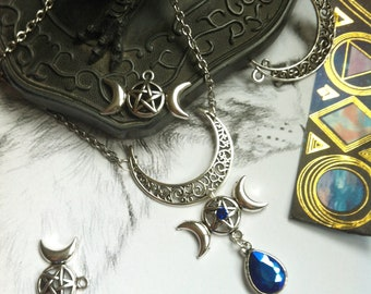 """""""Moon and pentacle"""" wiccan necklace"""