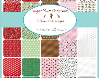 NEW - Sugar Plum Christmas Charm Pack by Bunny Hill Designs for Moda