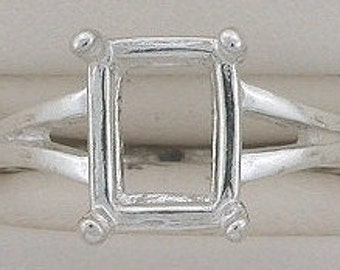 sterling silver 9x7 octagon ring mounting size 7